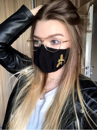 Maska bawełniana z aplikacją